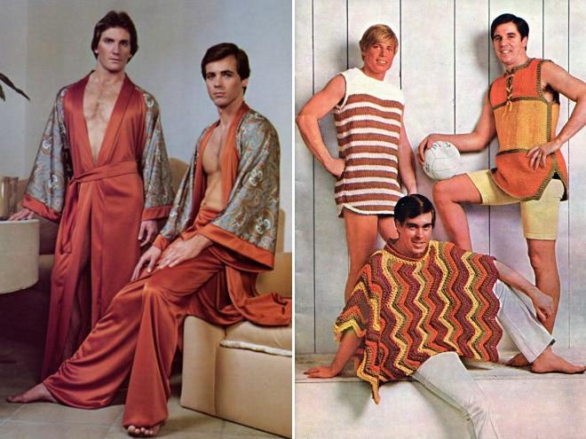 мужчины в необычных нарядах