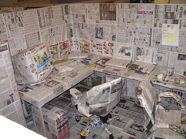 рабочее место в газетах