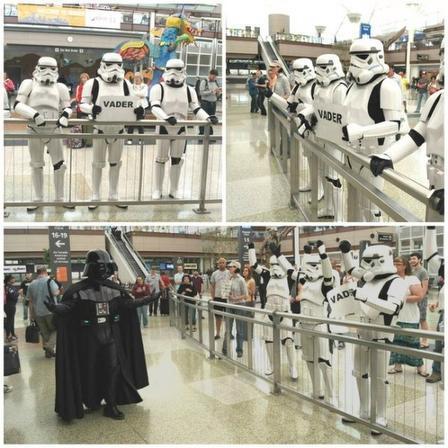 дарт вейдер и его армия в аэропорту