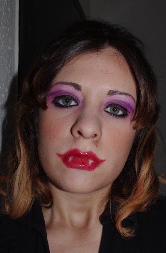 неудачный женский макияж