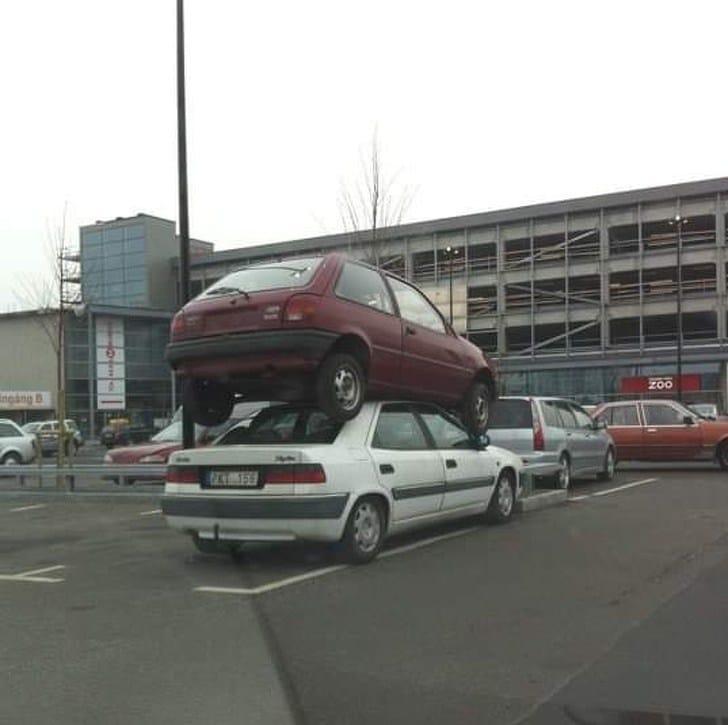 машина на машине