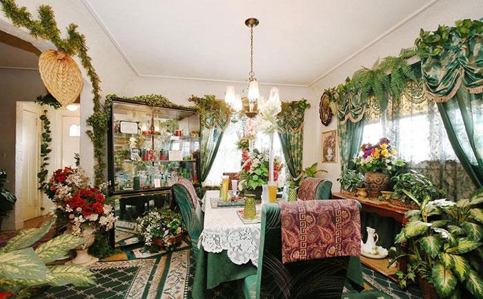 комната в растениях