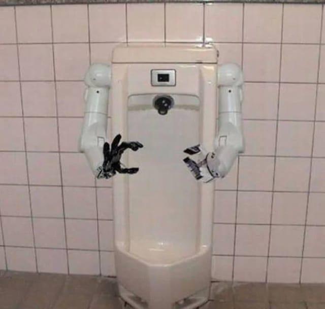 туалет с руками