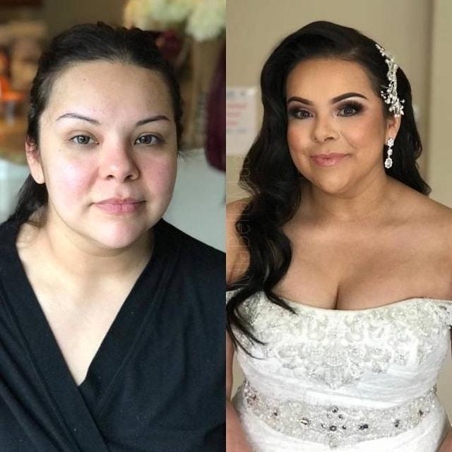 невеста до и после