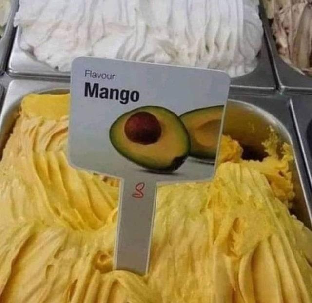 мороженое с манго