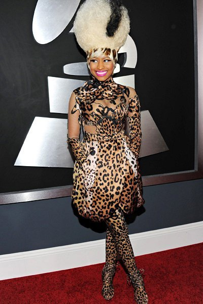 ники минаж в леопардовом платье