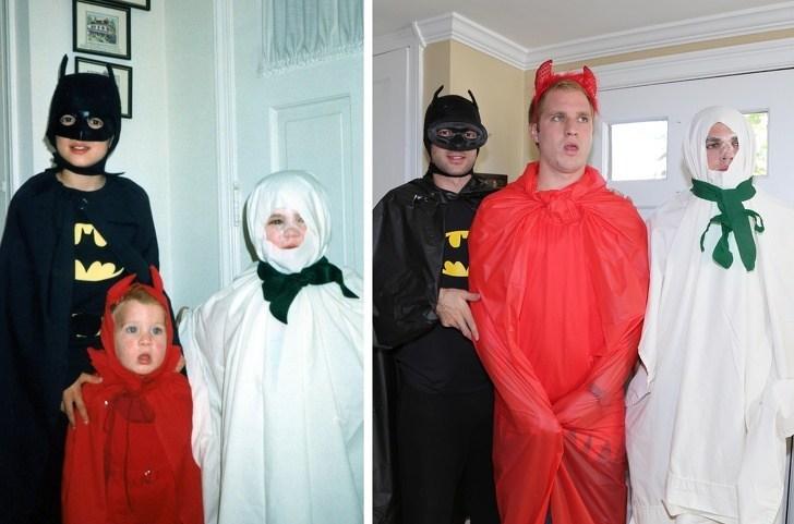 люди в костюмах на Хэллоуин