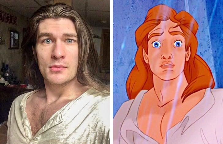 мужчина, который похож на принца