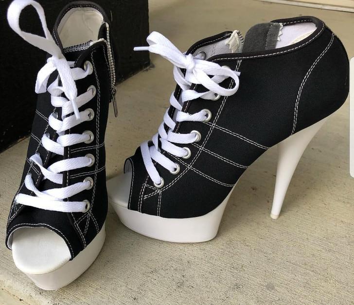 кеды на каблуках