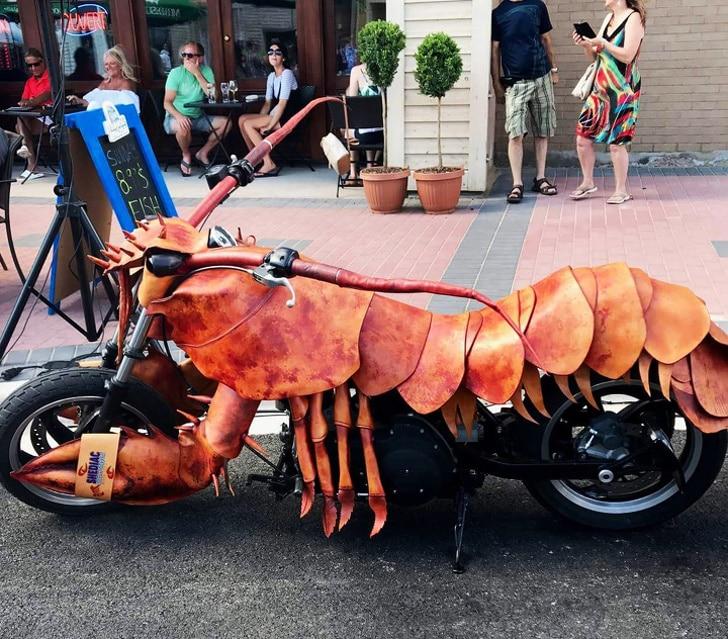 мотоцикл в форме лобстера