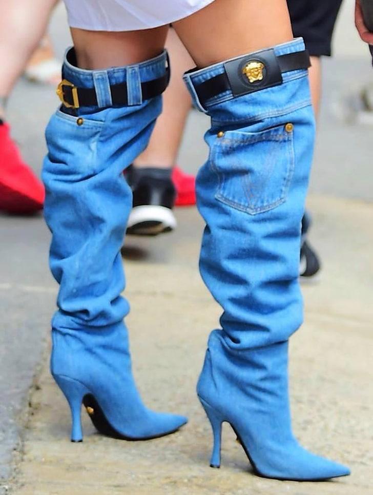 джинсовые сапоги