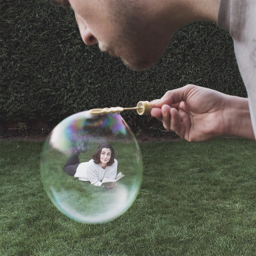 люди и мыльные пузыри