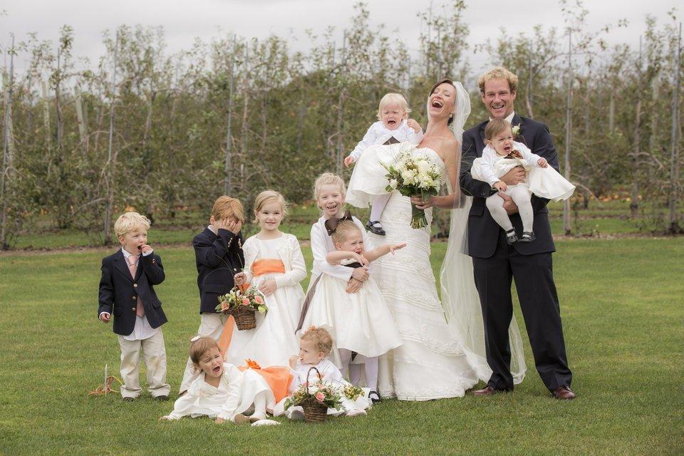 фото жениха и невесты с детьми