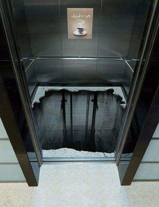 лифт с иллюзией отсутствия пола
