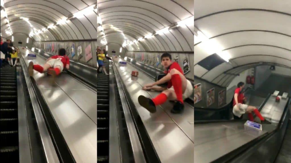 Прикольные картинки на эскалаторе