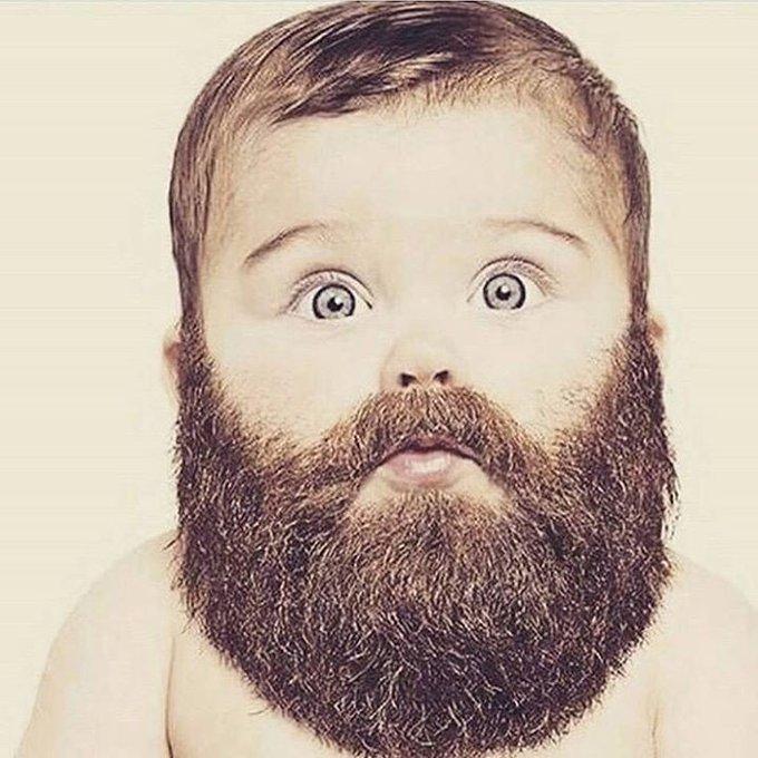 ребенок с бородой