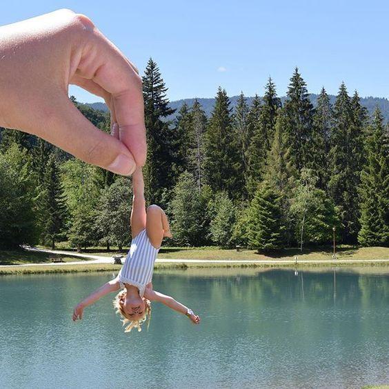 ребенок и озеро