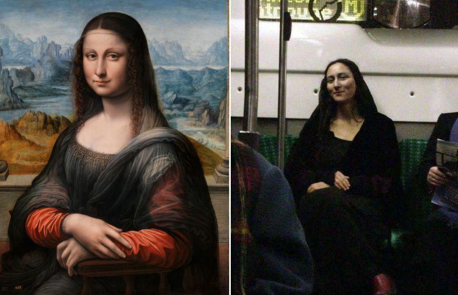 женщина похожа на Мона Лизу