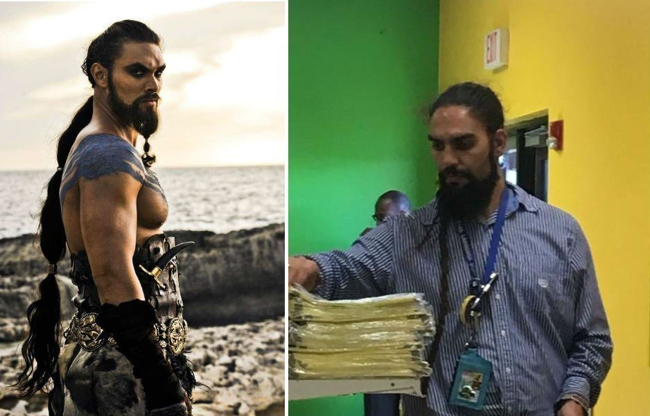 мужчина, который похож на Кхала Дрого