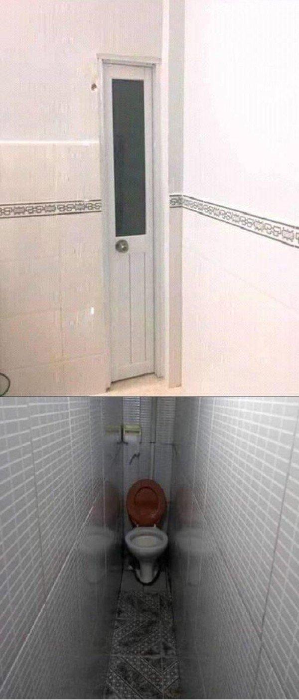 узкая дверь в туалет
