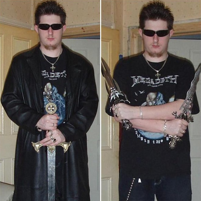 парень в черном плаще с мечом