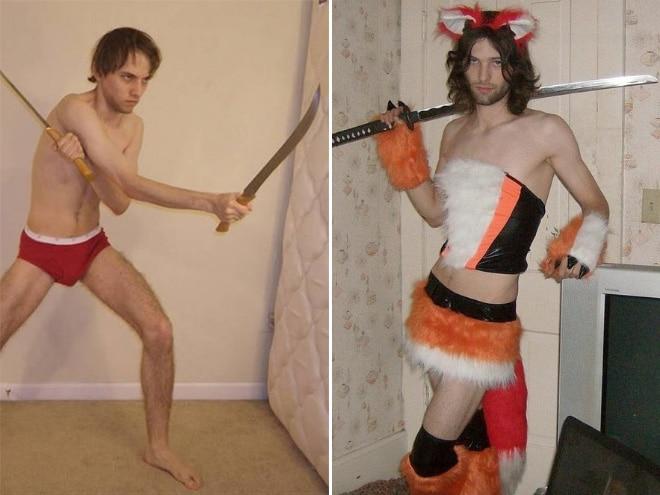 парни с мечами