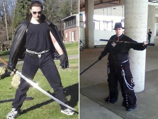 парень в черном с мечом