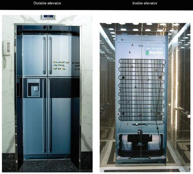 лифт замаскированный под холодильник