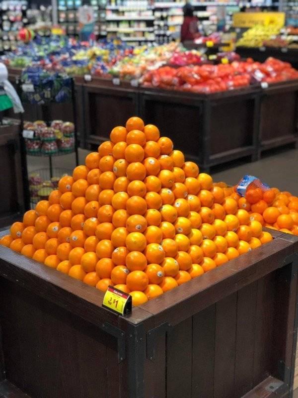 пирамида из мандаринов