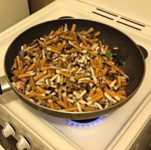 окурки сигарет