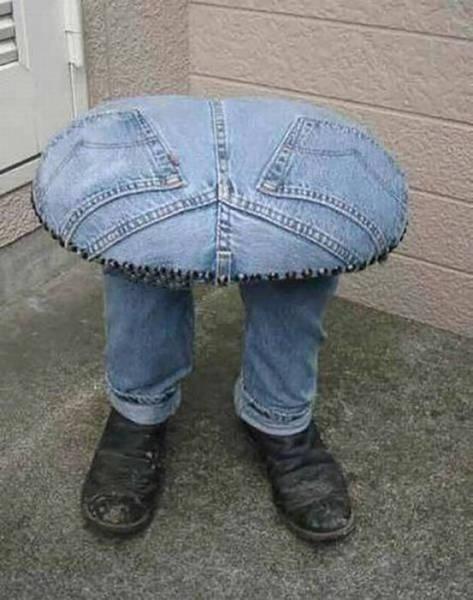 джинсовый стул