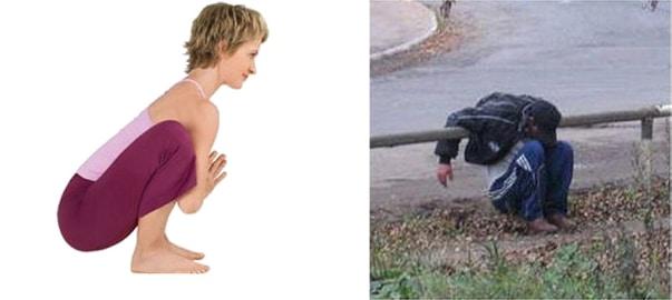 поза гирлянды в йоге
