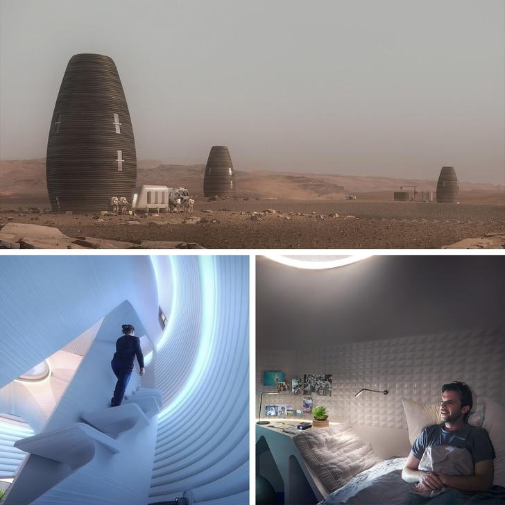 база для астронавтов на марсе