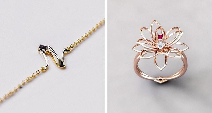 кольцо и цепочка из золота