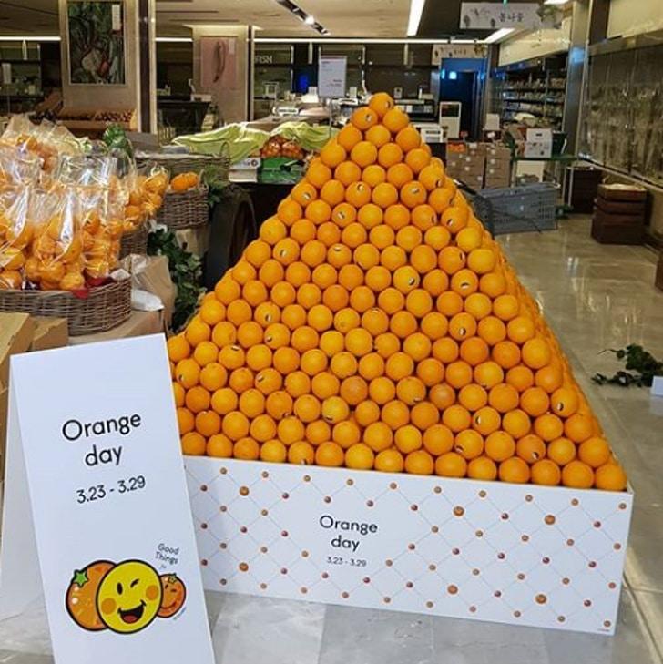 гора апельсинов