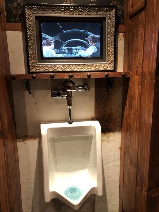 телевизор в туалете