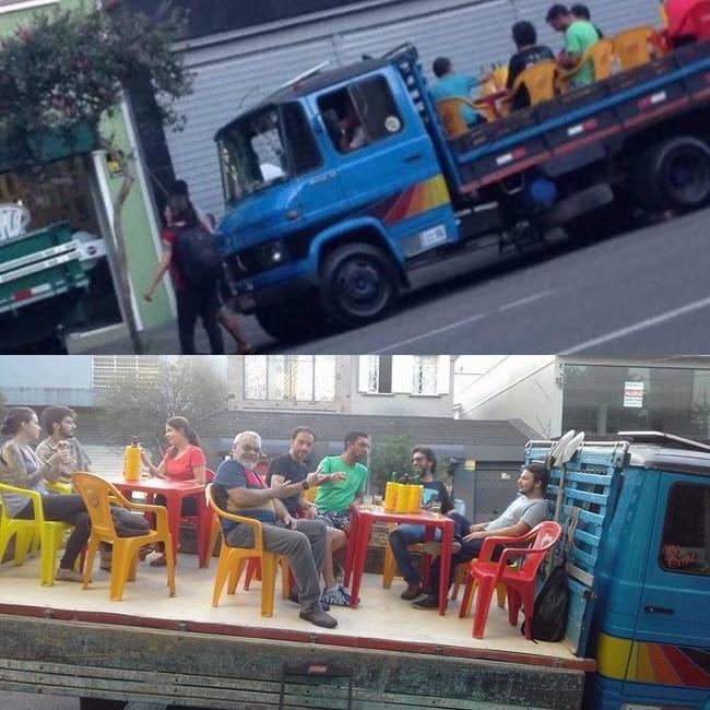уличный бар