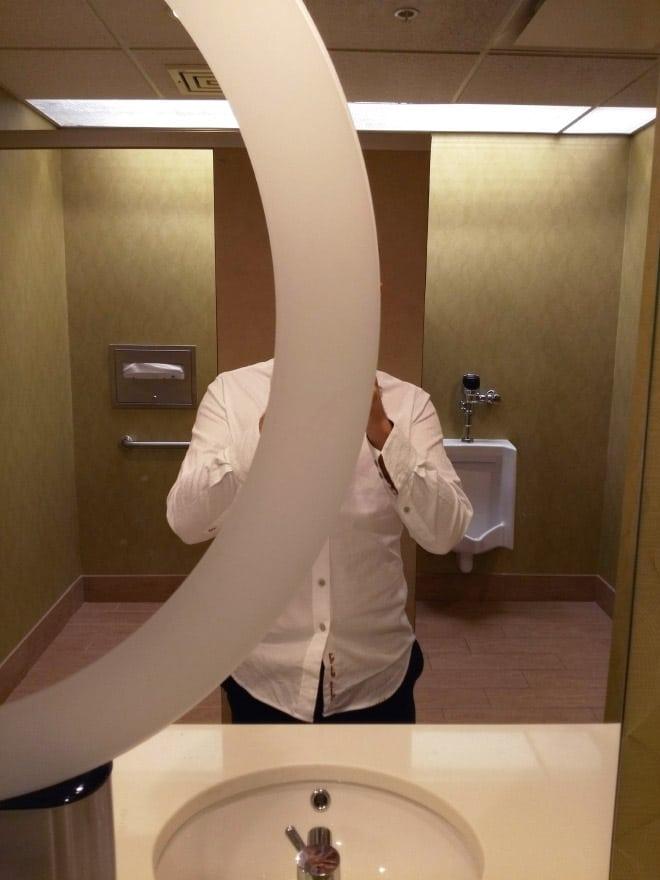 зеркало с полосой