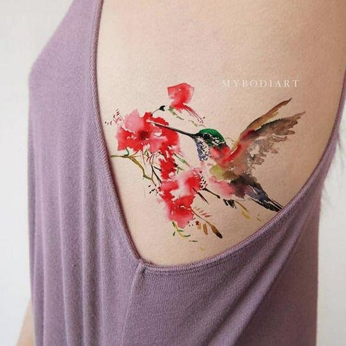 цветочная татуировка