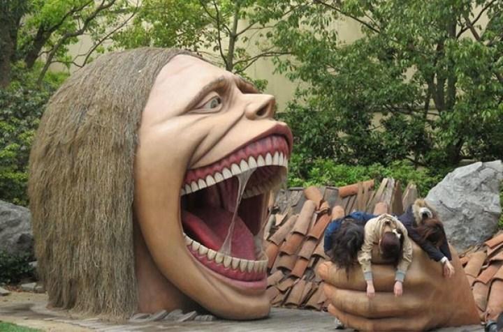 голова ведьмы скульптура