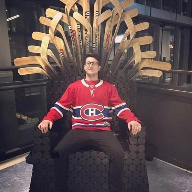 трон из лыж