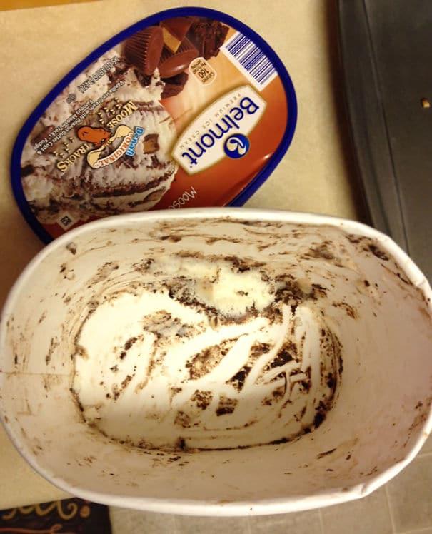 упаковка из-под мороженого