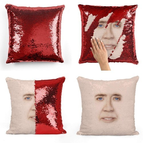 подушка с фото николаса кейджа