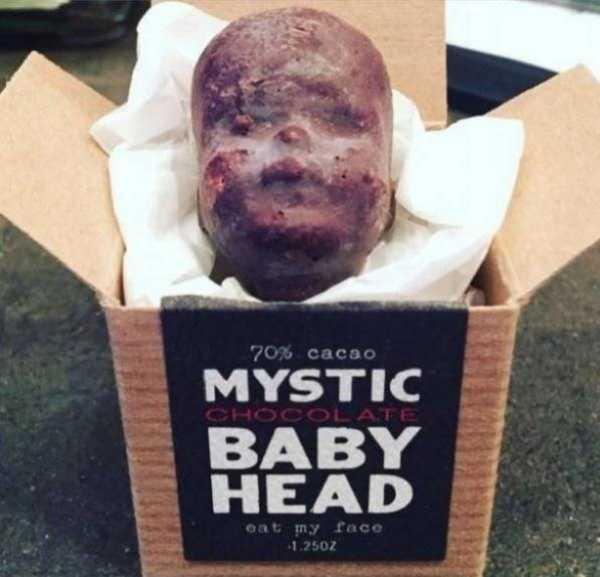 шоколадная голова в коробке