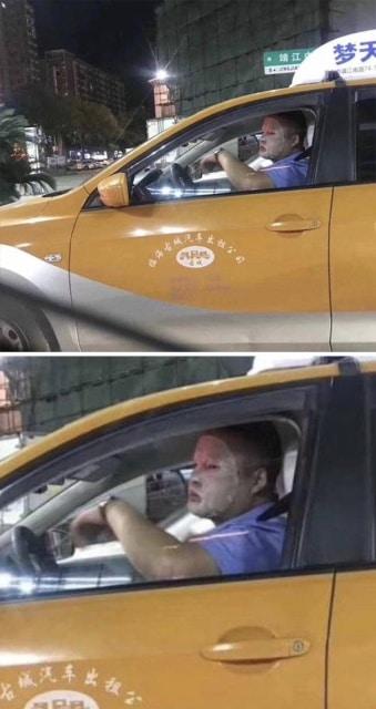 водитель в маске