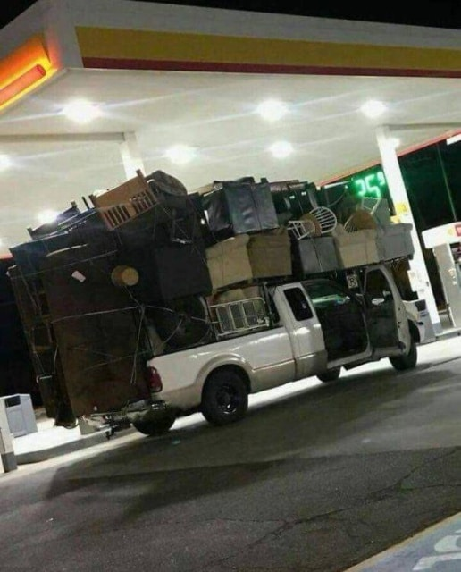 багаж на машине