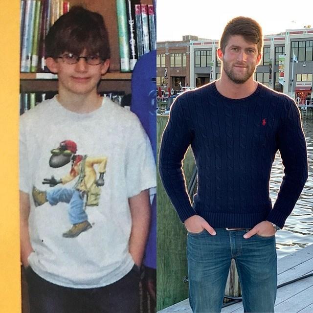 парень в подростковом возрасте и сейчас