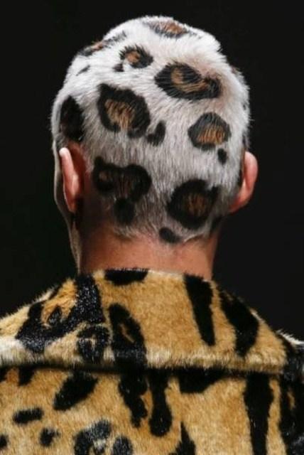 леопардовая окраска волос