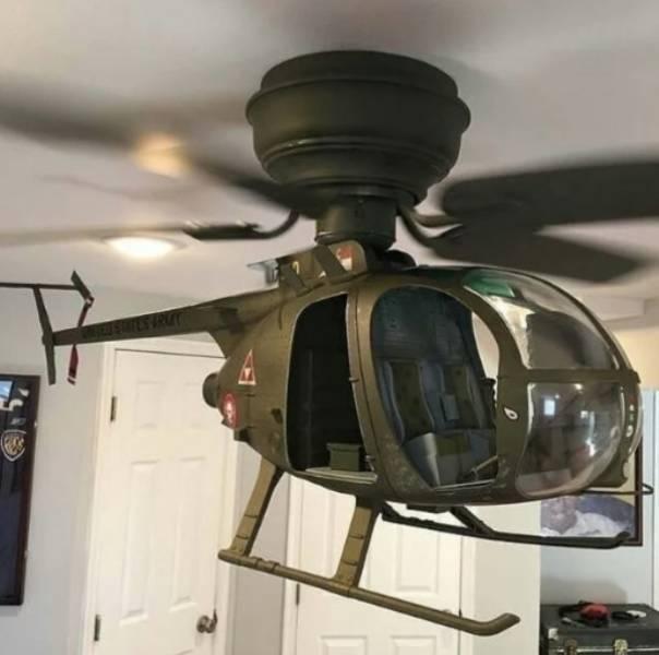 вертолет на потолке