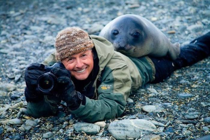 фотограф с тюленем